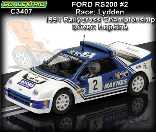 SCALEXTRIC C3407 - Ford RS200 #2 1991 Hopkins