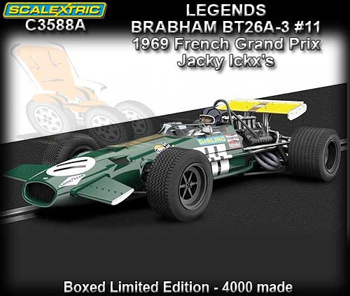 SCALEXTRIC C3588A - Brabham BT26A-3 - 1969 French GP #11