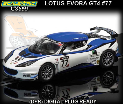 SCALEXTRIC C3599 - Lotus Evora GT4 #77 Blue/White (DPR)