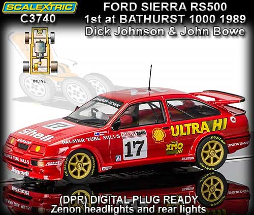 SCALEXTRIC C3740 - Ford Sierra RS500 - 1st Bathurst 1000 1989