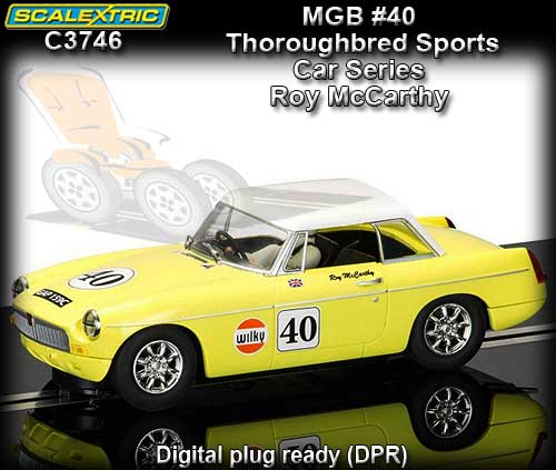 SCALEXTRIC C3746 - MGB #40 Thoroughbred Sports Car Series