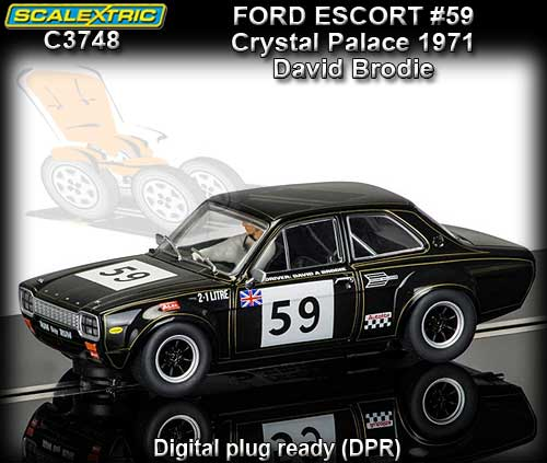 SCALEXTRIC C3748 - Ford Escort #59 Crystal Palace 1971 (DPR)