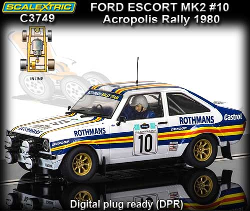 SCALEXTRIC C3749 - Ford Escort MKII #10 Acropolis Rally 1980