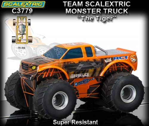 "SCALEXTRIC C3779 - Monster Truck""The Tiger"" - Super Resistant"