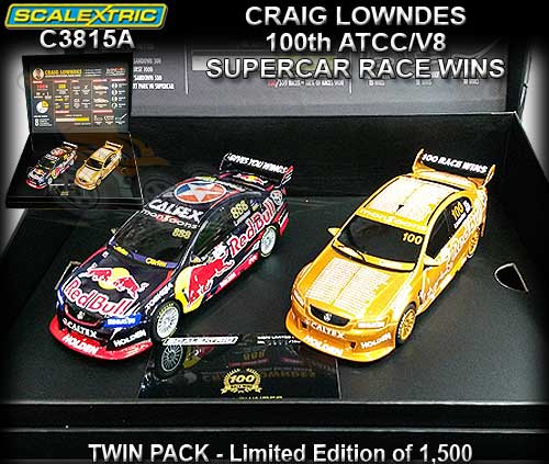 SCALEXTRIC C3815A - Craig Lowndes 100th race win - twin pack