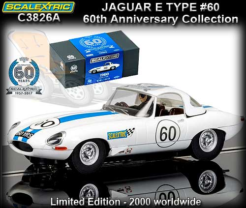 SCALEXTRIC C3826A - 60th Anniversary - Jaguar E Type #60