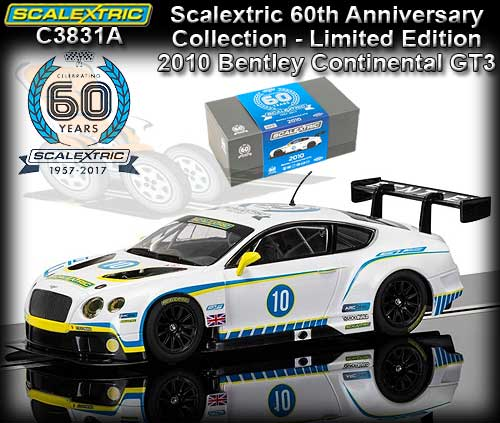 SCALEXTRIC C3831A - 60th Anniversary - Bentley Continental GT3