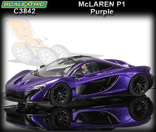 SCALEXTRIC C3842   McLaren P1   Metallic Purple (DPR)