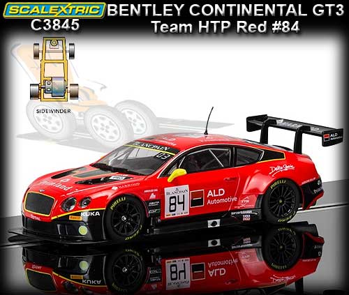 SCALEXTRIC C3845 - Bentley Continental GT3 - Team HTP (red) #84