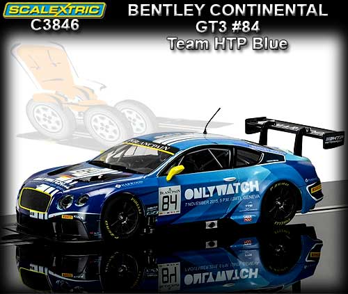 SCALEXTRIC C3846 - Bentley Continental GT3 - Team HTP (blue) #84