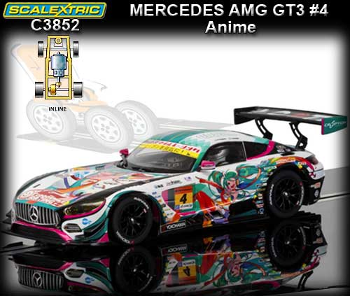 SCALEXTRIC C3852 - Mercedes AMG GT3 - Japanese GT300 series #4