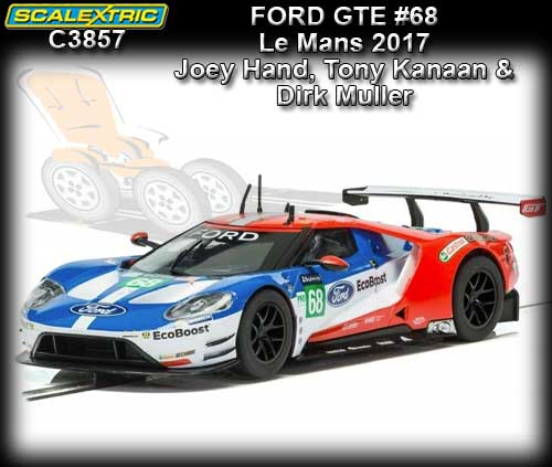 SCALEXTRIC C3857 - Ford GT - Le Mans 2017 #66
