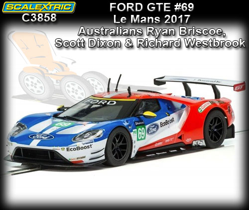 SCALEXTRIC C3858 - Ford GT - Le Mans 2017 #69