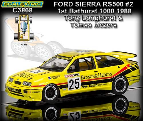 SCALEXTRIC C3868 - Ford Sierra RS500 - 1st Bathurst 1000 1988 #2