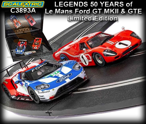 SCALEXTRIC C3893A - 50 years of Le Mans Ford GT40 MKIV & Ford GT