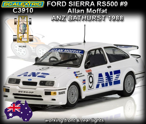 SCALEXTRIC C3910 - Ford Sierra RS500 - Bathurst 1000 1988 ANZ #9