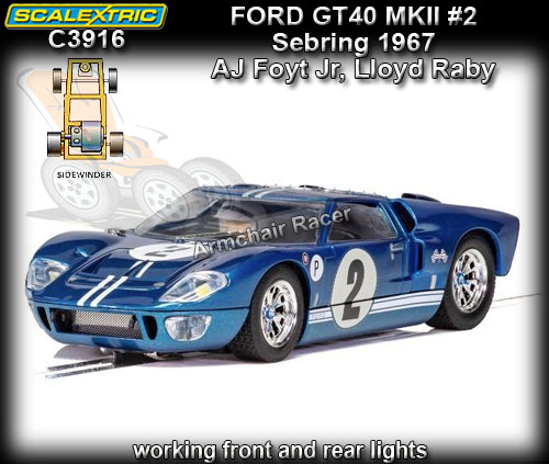 SCALEXTRIC C3916 - Ford GT MKII - Sebring 1967 #2
