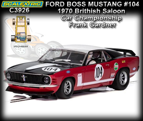 SCALEXTRIC C3926 - Ford Mustang Boss 302 1970 - Frank Gardner #3