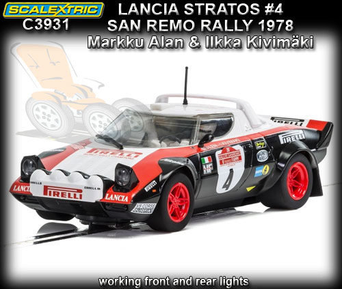 SCALEXTRIC C3931 - Lancia Stratos- winner San Remo Rally 1978 #4