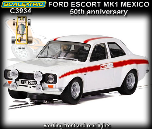 SCALEXTRIC C3934 - Ford Escort MKI RS - 50th Anniversary