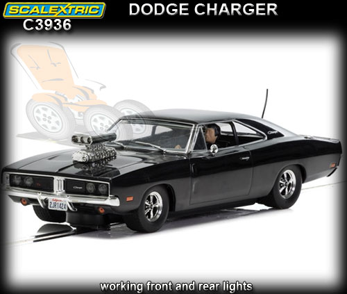 SCALEXTRIC C3936 - Dodge Charger - black with blower