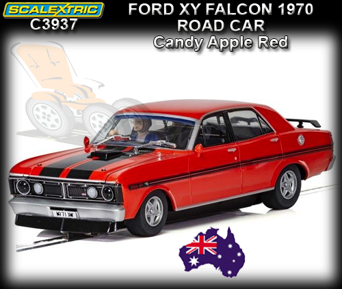 SCALEXTRIC C3937 - Ford XY Falcon - Candy Apple road car