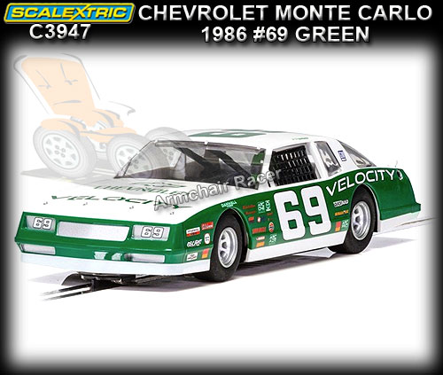 SCALEXTRIC C3947 - Chevrolet Monte Carlo 1986 #69 (green)