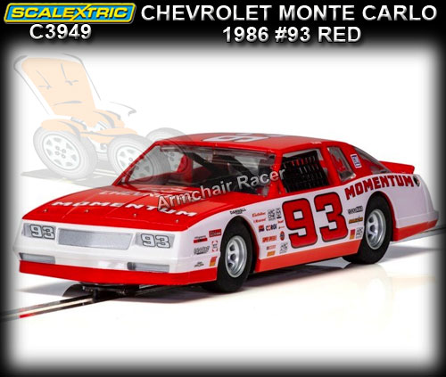 SCALEXTRIC C3949 - Chevrolet Monte Carlo 1986 #93 (red)