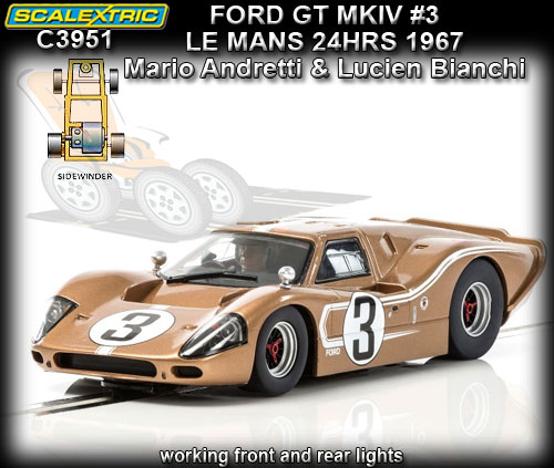 SCALEXTRIC C3951 - Ford GT40 MKIV - 24hr Le Mans 1967 #3