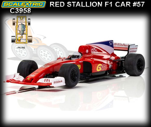 SCALEXTRIC C3958 - Red Stallion F1 car #57