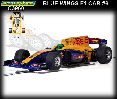 SCALEXTRIC C3960 - Blue Wings F1 car #6