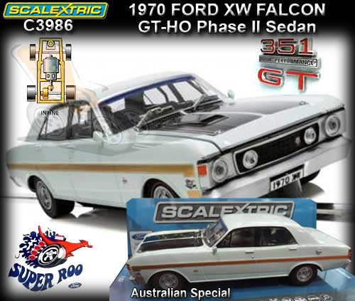 SCALEXTRIC C3986 - Ford XW GT-HO Phase II Falcon 1970 Super Roo