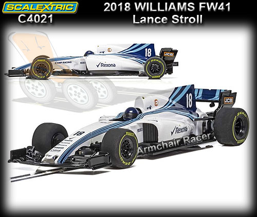 SCALEXTRIC C4021 - F1 Williams FW41 2018 - Lance Scroll #18