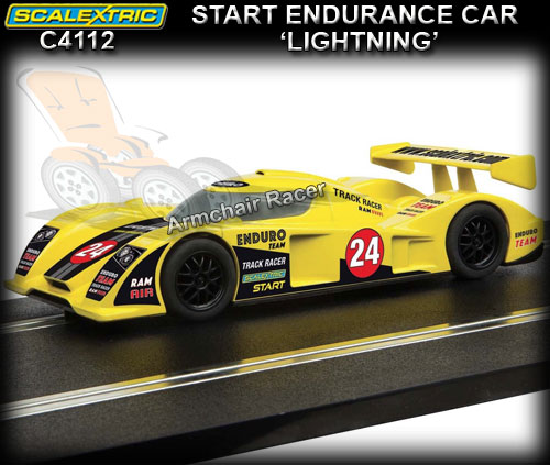 SCALEXTRIC C4112 - Start Endurance - 'Lightning' #24 (yellow)