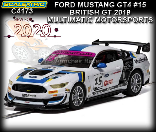SCALEXTRIC C4173 - Ford Mustang GT4 - 2019 British GT #15