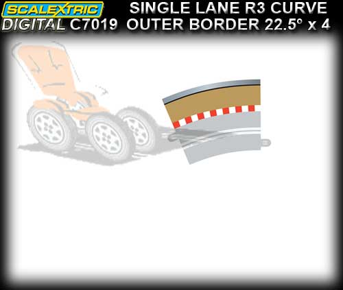 SCALEXTRIC SSD BORDER C7019 - Radius 3 Single Lane Outer Border