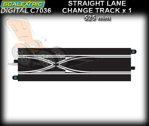SCALEXTRIC SSD TRACK C7036 - Double Lane Change Straight Track