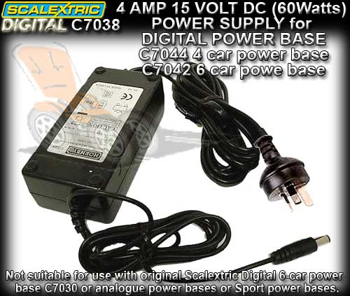 SCALEXTRIC SSD POWER SUPPLY C7038 - 4 amps 15 volts 60 Watts