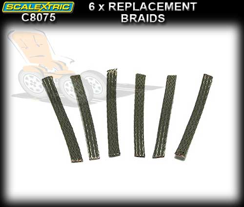 SCALEXTRIC BRAID C8075 - 6 x tin plated copper replacement braid