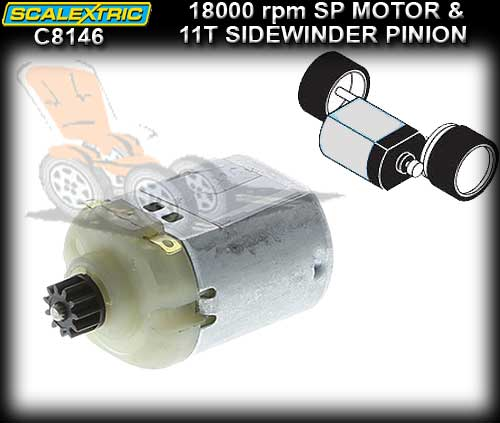 SCALEXTRIC MOTOR C8146 - 18000 rpm S-Can + Pinions