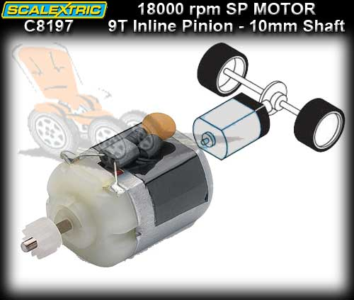 SCALEXTRIC MOTOR C8197 - 18000 rpm S-Can & Pinion