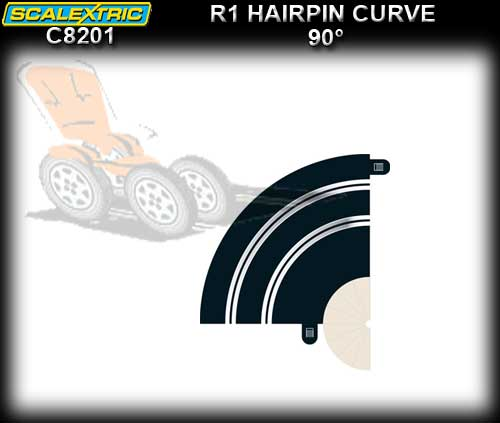 SCALEXTRIC TRACK C8201 - R1 Hairpin Curve 90 deg.