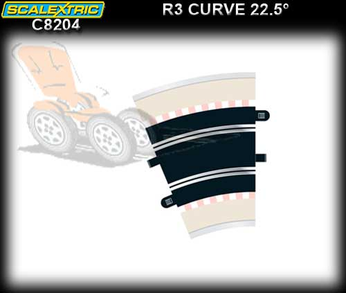 SCALEXTRIC TRACK C8204 - R3 Curves 22.5 degree