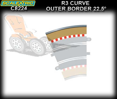 SCALEXTRIC BORDER C8224 - R3 Outer Border 22.5 degree