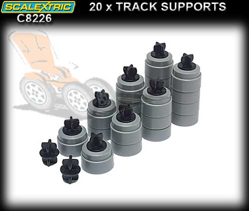 SCALEXTRIC TRACK C8226 - 20 x Track support and clips