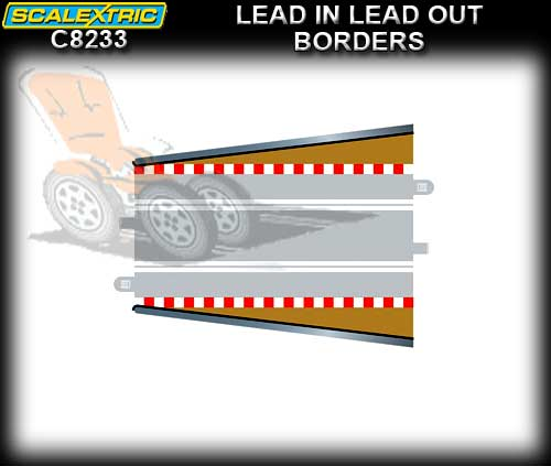 SCALEXTRIC BORDER C8233 - 2 x Lead In Lead Out borders