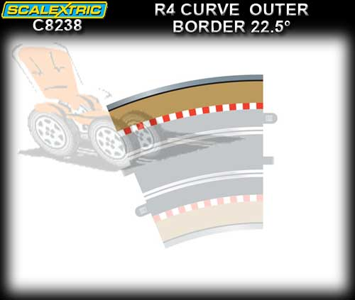 SCALEXTRIC BORDER C8238 - R4 Curve Outer Border 22.5 degree