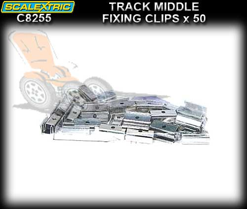 SCALEXTRIC TRACK C8255 - 50 x 4/6/8 lane middle clips