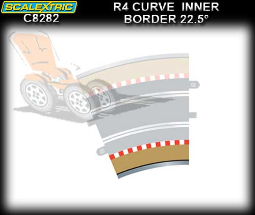 SCALEXTRIC BORDER C8282 - R4 Curve Inner Border 22.5 degree