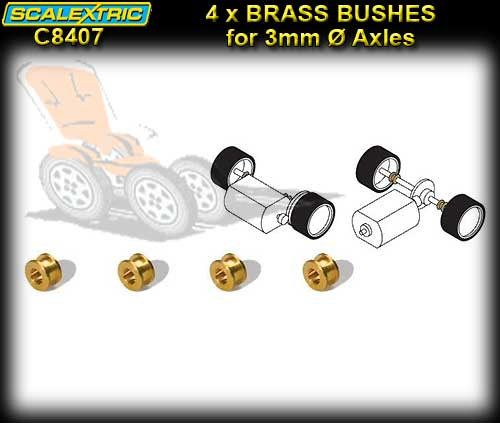SCALEXTRIC AXLE BUSHES C8407 - Pro Parts Brass Bushes